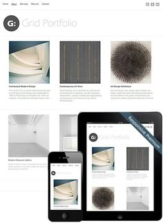 Grid Portfolio Theme #portfolio #design #interface #grid #web