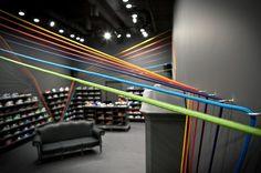 Polish Sneaker Store Run Colors #interior #design