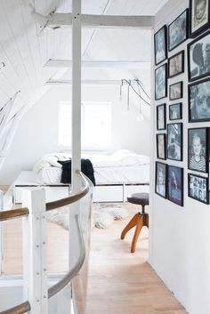 Master bedroom in attic. Vedbæk House I by Norm.Architects. #attic #bedroom #vedbækhousei #normarchitects