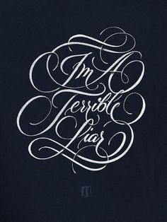 Typeverything.com Terrible Liar by Ryan Hamrick #type #lettering #script #elegant