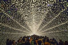 Japans Tunnel of Lights 2 #tunnel #light #japan #installation