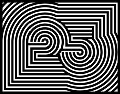 25th Birthday #white #digit #event #circles #black #hypnosis #postcard