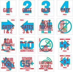 Designs for signage at the Delacorte. #scher #paula #design #graphic #typography