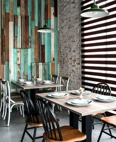 Space with Attractive Exposed Brick Walls - InteriorZine #restaurant #decor #interior
