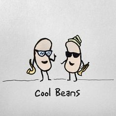 Cool Beans #ink #miles #davis #jazz #beans #illustration #pen #paper #humor #cool