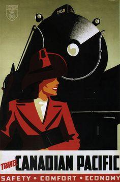Peter Ewart. Travel Canadian Pacific #travel #advertising #illustration #vintage #poster #canadian