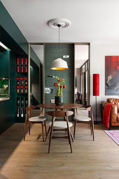 40 sqm Apartment Takes Advantage Of Color And Chic Accent Features 7