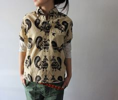 pharaohsfury:madamecuriewasmymother:FWK By Engineered Garments #pattern #prints #shirt