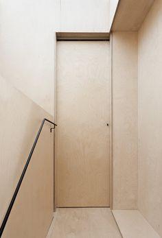 Plywood House by Simon Astridge. #plywood #simonastridge #minimal #door