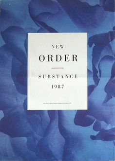 New Order - Substance #print #design #graphic #typography