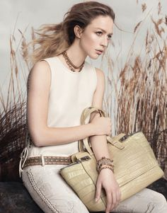 Raquel Zimmermann by David Sims for Salvatore Ferragamo Spring Summer Campaign