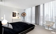 Architecton Designed Residences with Sophisticated Architectural Style in Melbourne - bedroom, bedroom design, bed, bedroom decorating, #bed