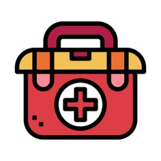 See more icon inspiration related to healthcare and medical, hospital, emergency, first aid kit and medicine on Flaticon.