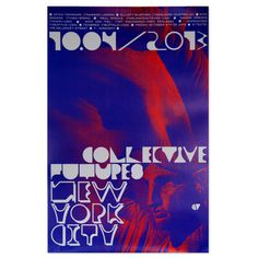 Poster by Metamatic for Collective Futures NYC #red #print #design #typography #exhibition #poster #york #blue #new