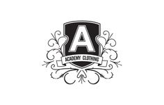 ACADEMY CLOTHING Mitchell Clements #flourish #clothing #b&w #crest #shield #logo