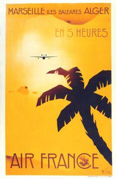 http://vepca.files.wordpress.com/2011/06/air france marseille.jpg #flight #airplane #air #france #travel #poster