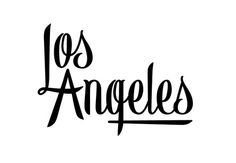 Los Angeles #lettering #los #alex #angeles #nassour #california #typography