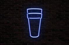 #neon #doublecup #sign #brick