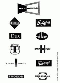 Mid Century Modern Swedish Furniture Logos