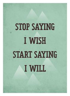Life Quote poster - Start Saying I Will - Retro-style typography art print A3 #print #quotes #neuegraphic #poster #typography