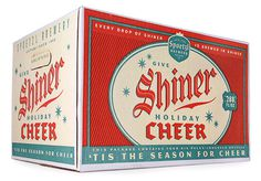 shiner, cheer, beer, holiday, red, green, christmas