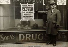 Closed_For_Violation_of_National_Prohibition_Act_Photo_version2.jpg (640×452) #sign #beer #vintage #prohibition