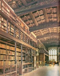 """reaganation:""""The Bodleian Library, Oxford University, England. Known to Oxford scholars as """"Bodley"""" or simply """"the Bod"""", it serves #libary #books #space"""