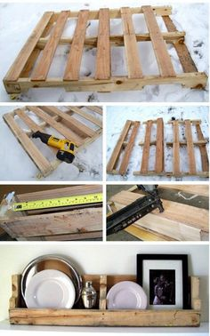 DIY Pallet shelves #DIY #Pallet