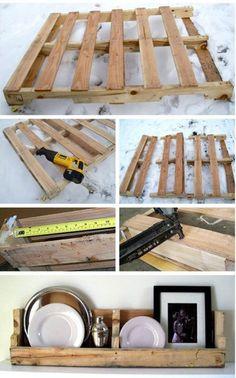 DIY Pallet shelves #DIY #Pallet