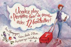 Zaczarowana Walizka #whiskey #lettering #cloud #flyer #wine #olive #illustration #champagne #luggage #airport #watercolor #cidre #hand #oil