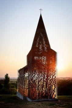 Gijs Van Vaerenbergh - Reading between the Lines - opbouw / construction | Flickr - Photo Sharing! #steel #vaerenbergh #installation #church #van #architecture #gijs #art