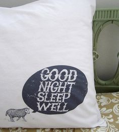 kin ship press | Design*Sponge #type #pillow #design #sheep