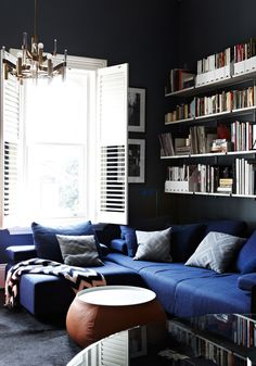 ChelseaHing_lounge #blue #home #room #couch