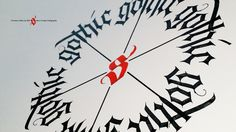 Circular Gothic Calligraphy #gothic #calligraphy #type #typography