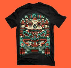 "XOLOTL ""EL ANIMAL"" on Behance #vector #xolotl #shirt #black #illustration #colors #vintage #art #man"