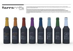 TerraCotta #beer #sleever #bottle #packaging #color #black #colorful #minimal #helvetica #dark