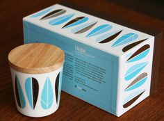 Isak Porcelain Lidded Cups Set of Two by: isak Huset Shop.com | Your #leaf #packaging #modern #mid #century #leaves