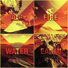 Classical Elements on the Behance Network #water #elements #air #print #classical #earth #fire #poster