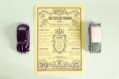 Vintage Resume #resume # lettering #typography