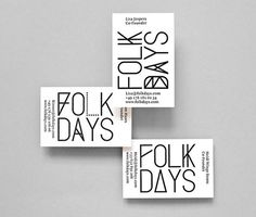 Stahl r_folkdays_bc #type #design #branding