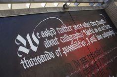 Twitter vs Calligraphy Mural