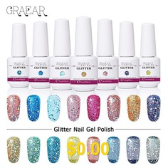Shiny #Nail #Polish #Gel #Sequins #Phototherapy #Gel #Flash #Diamond # #Nail #Polish #Glue #Removable #And #Durable #- #GC042