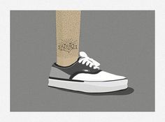 Hello 1986 » Legs and Shoes #illustration #1986 #vans #hello