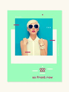 So Front Row - grab . the . eye . | design & visual communication #front #branding #row #identity #fashion #logo #so