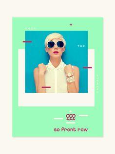 So Front Row - grab . the . eye . | design & visual communication #front #branding #row #identity #fashion #logo #so
