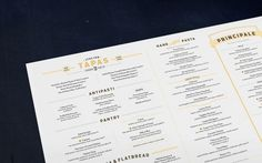 Graphic-ExchanGE - a selection of graphic projects #identity #stationary #menu #restaurant