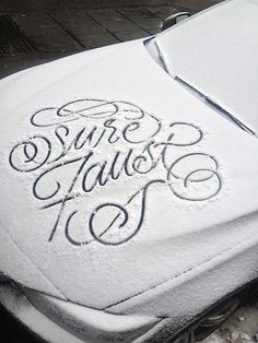 snow_script_faust_ny_05 #handwriting #snow #typography
