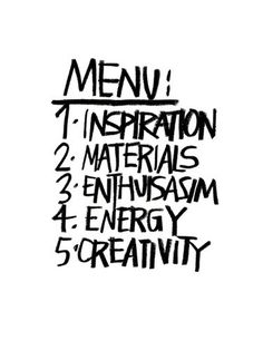 Menu Art Print by Stephen Anthony Davids Easyart.com #inspiration #words #quote #print #design #art #poster #artprint
