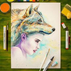 CJWHO ™ (Personal Artworks on Instagram by Creative Mints ...) #amazing #design #paiting #illustration #art #portraits