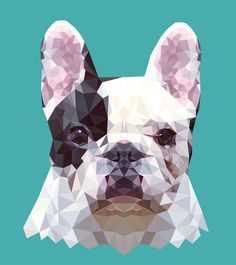 FRENCHIE — Geometric vector animals
